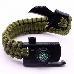 survival bracelet with knife