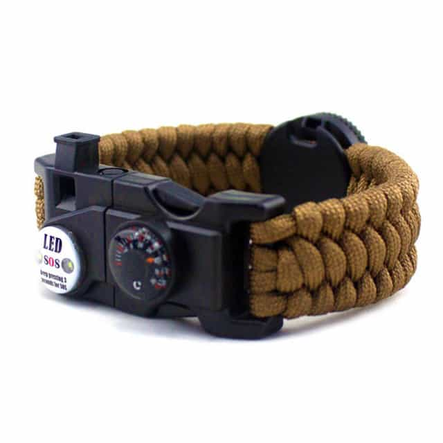 survival bracelet with sos light