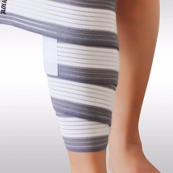 elastic knee pad white gray