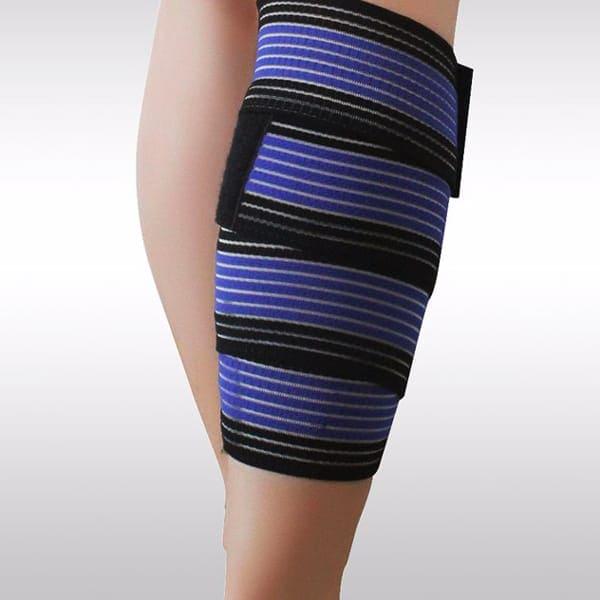 elastic knee pad black blue
