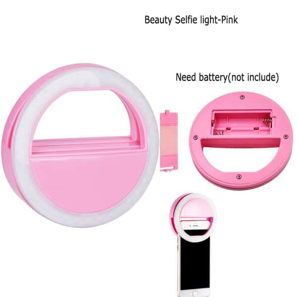 mobile selfie light pink