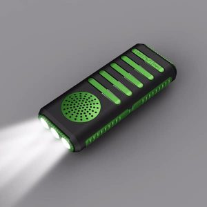speaker flashlight and power bank green