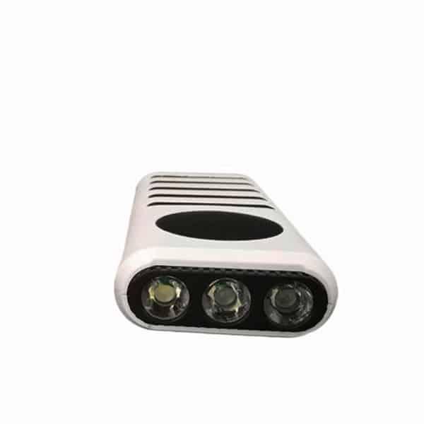 speaker flashlight and power bank white