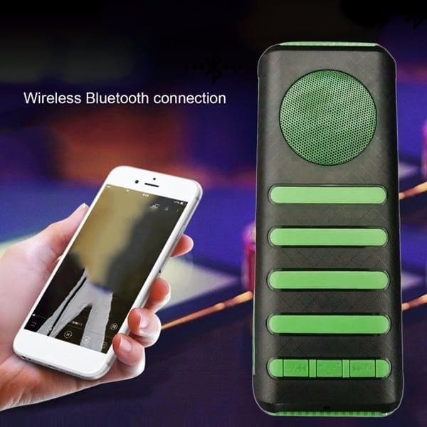 speaker flashlight and power bank green
