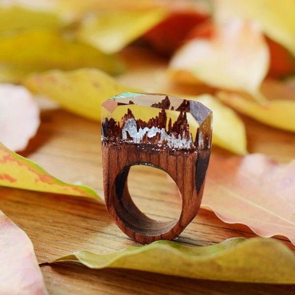 wooden seceret ring