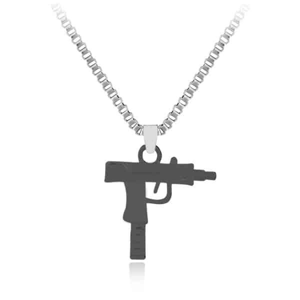 gun necklace pure gold