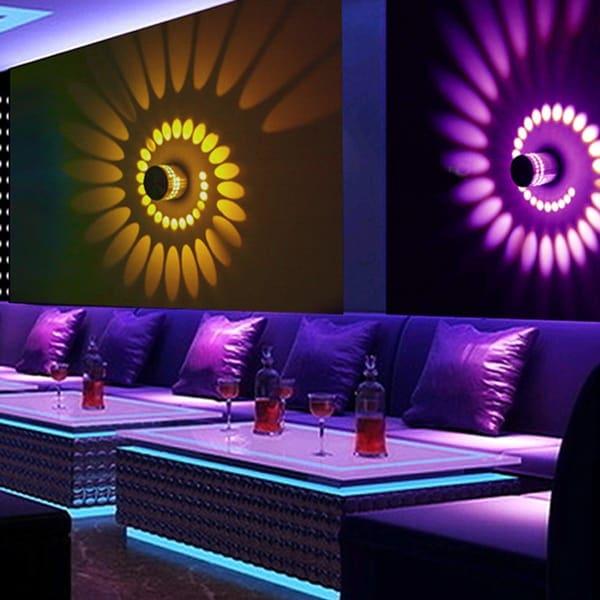 Colorful RGB wall light